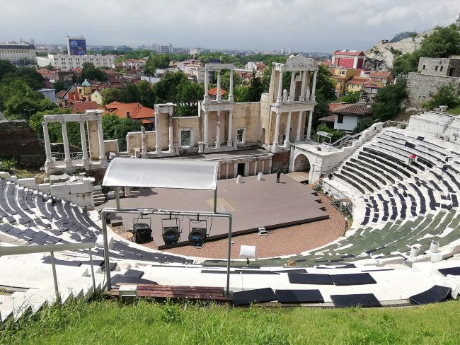 Stadion und Theater in Plovdiv