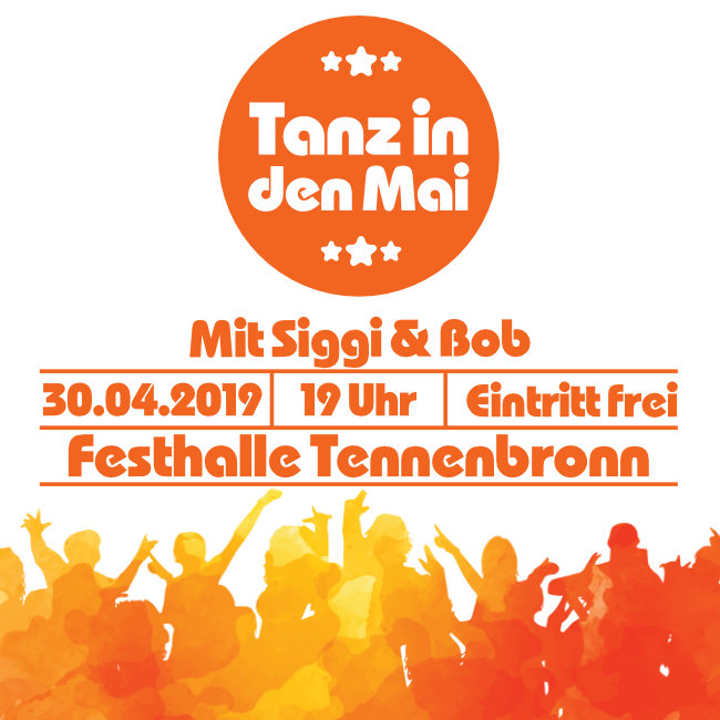 Tanz in den Mai am 30. April in der Festhallte Tennenbronn